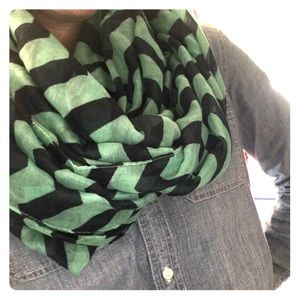 Navy and turquoise summer unfortunately scarf